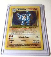 MACHAMP - 8/102 - 1st Edition Holo - Base Set - Pokemon Card - Lightly Played