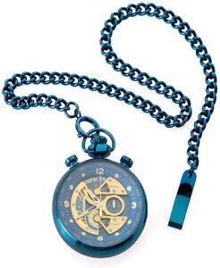 Invicta Men's Vintage Quartz Chrono Blue Stainless Steel Pocket Watch 34457