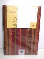 "Lintex 100% Cotton Tablecloth ~ Scottsdale Stripe ~ 70"" Round **NEW**"