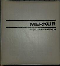1985 1986 Ford Merkur XR4Ti Product Information Book Dealer Album Manual