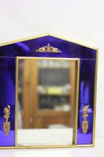 Miroir de style Charles X entourage en verre de couleur bleu application