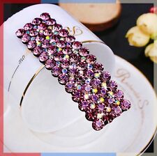 Quality Handmade Hair Clip Bobby Pin using Swarovski Crystal Hairpin Purple 02