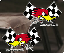 2x Stück Clay Smith Sticker Original Aufkleber Mr. Horsepower Raceflags 130mm