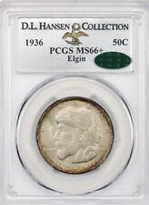 1936 Elgin 50c PCGS/CAC MS66+ ex: D.L. Hansen , Prestige Coin