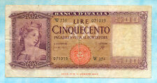 ITALIA 500 Lire 1961 P80br F REPLACEMENT