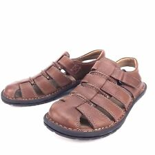 252452 SPSA38 Men/'s Shoes Size 9 M Brown Leather Sandals Johnston /& Murphy