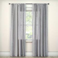 eae7aaddf Con cortinas de tela transparente, cortinas y cenefas   eBay
