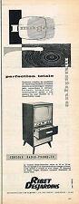 PUBLICITE ADVERTISING 114  1957  RIBET-DESJARDINS  console radio-phono-tv