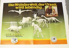 Bully Poster === Figuren Werbung Urzeit / Dinos Dinosaurier Steckfiguren Plakat