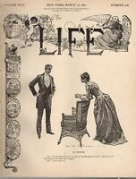 1891 Life March 12 - Sarah Bernhardt will aid NY Orthopedic Society; Thackeray