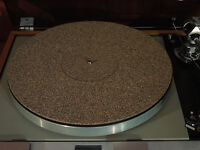 Cork / Rubber Turntable Record Player Mat 0.5mm record label recess in center