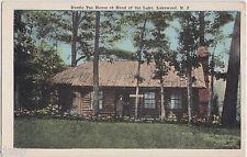 c1910 Lakewood New Jersey Nj Postcard Rustic Tea House Head Of The Lake