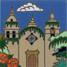 Ceramic Tile Carmel Mission hand painted wall decor hot plate installation art