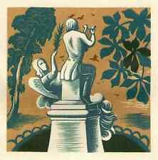 Von der MUSIK-MUSE GEKITZELT 1949 - OriginalFarbHolzschnitt von Lucien BOUCHER