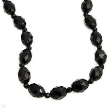 FPJ Necklace with 344.50ctw Genuine Onyx  Made in 14K Yellow gold