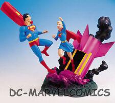 DC Comics SUPERMAN & SUPERGIRL SILVER AGE STATUE  W/BOX Maquette bust Figurine
