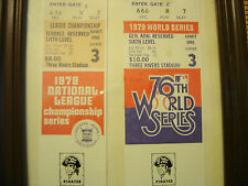 Pittsburgh Pirates Baltimore Orioles 1979 World Series and Playoff tickets