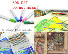 72 Color Marco Raffine Oil Base Non-toxic Pencils set for Artist Drawing Sketch