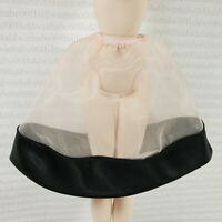 LINGERIE ~ BARBIE BEST LOOK ARTICULATED SILKSTONE BLACK SATIN TRIM SLIP SKIRT
