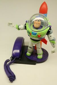 Buzz Lightyear TOY STORY Disney Phone Telephone 1996 Brooktel Rocket Telephone