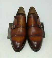 Magnanni Louie Cognac Double Monk Strap size 10.5 US (18534-6) 2072