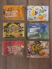 6x Blechschilder  75 Jahre Fanta Werbeschilder Coca Cola