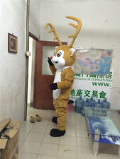 2018 Hot Christmas Reindeer Costume Deer Mascot Festival Party Adult Fancy Dress