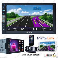Double 2Din Capacitive Auto Car Stereo NO-DVD Player Radio Mirror Link BT+Camera