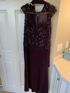 Marsoni Purple Beaded Dress Size 14, Worn Once, Great Condition.