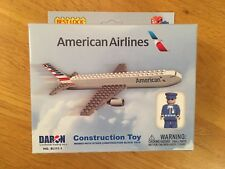 AMERICAN AIR PLANE PLAY CONSTRUCTION TOY Fits LEGO 67 Piece BESTLOCK GIFT+PILOT