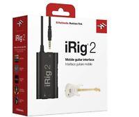 IK Multimedia pro  iRig 2 mobile guitar interface universal iphone ipad mac