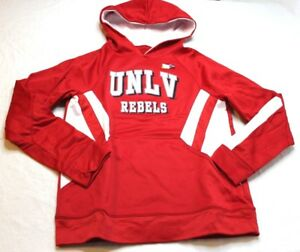 NCAA UNLV Rebels Hoodie Youth Argon Red White New NWT