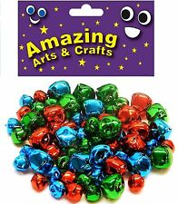 60 Jingle Bells assorted colours 10mm & 15mm by Amazing Arts and Crafts