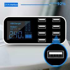 8 Multi-Port Ladestation USB Adapter Autoladegerät Smart LED Display 5.0V