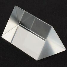 2.5 in Optical Glass Triangular Prism Teaching Light Spectrum Physics USA SELLER
