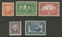 Canada Stamps 1927 Confederation Set LMM & UMM Ex-Old Time Collection