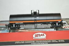 HO scale Atlas 17,360 gallon tank car train ACFX Lease orange stripe