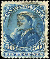 1893 Used Canada 50c F+ Scott #47 Small Queen Stamp