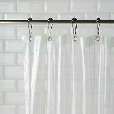 Clear Magnetized Shower Curtain Liner Mildew Resistant