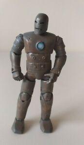 "Marvel Iron Man Mk1 Hasbro 2010 4.5"" rare figure hasbro Stark Avengers"
