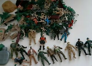 Huge Lot Plastic Military Vehicles Planes Tanks + Soldiers Over 100 Items 6 LBS