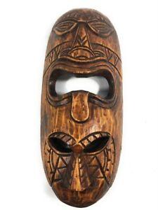 "Fijian Tiki Mask 12"" - 2 Deities Love & Happiness   #mdr1900930"