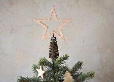 Mango de Madera Estrella Árbol Navidad Decoración, Chana Nkuku Scandi Rústico