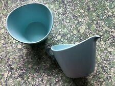 More details for vintage aqua midwinter modern melamine sugar bowl & milk jug camper van camping