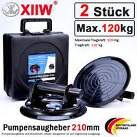 2Stk Saugheber Glassauger Glasheber Vakuum Sauggriff 120 kg Tragkraft Saughalter
