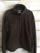 Columbia Zip Up Fleece Jacket Men's Size XXL Chocolate Brown