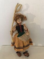 Vintage Cloth Spain Klemperer CharacterDoll Sheep Gatherer