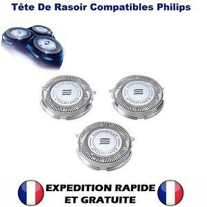 3X Tête de lames de rasoir Compatibilité Razor Head Philips Serie 5000 SH50 HQ8