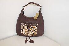 SOPHIA C Brown leather leopard print Handbag Bag New with tags