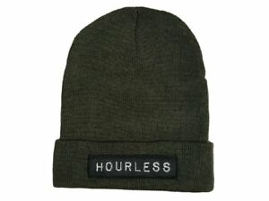 Hourless Classic Beanie Mens Ladies ARMY GREEN Afends RVCA Drop Dead Vans
